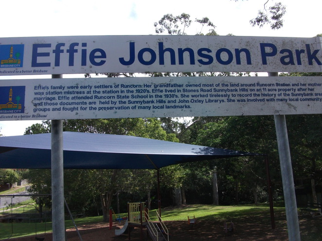Effie Johnson Park, Sunnybank,Les Atkinson bikeway, walking path, playground, barbecue, shelter, wheelchair access, basketball half-court, rebound wall, BMX, skating and rollerblading