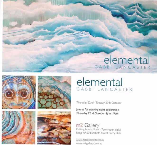 elemental artist Gabbi Lancaster M2 Gallery Surry Hills