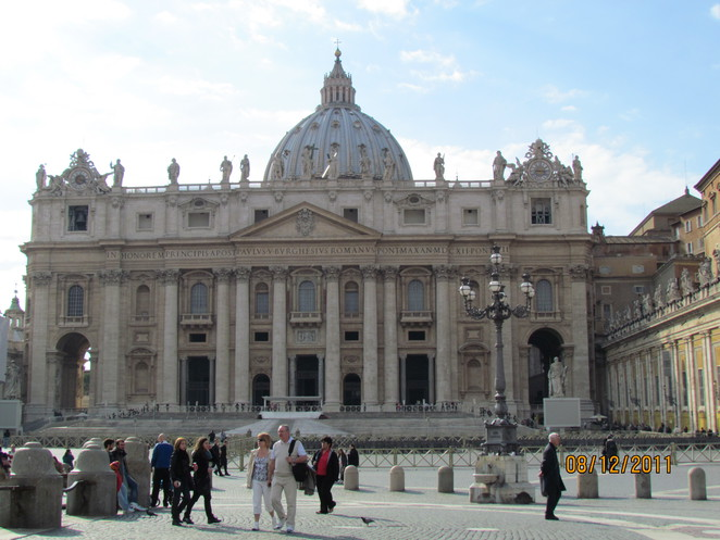 Famous Dome of St Peter's Rome