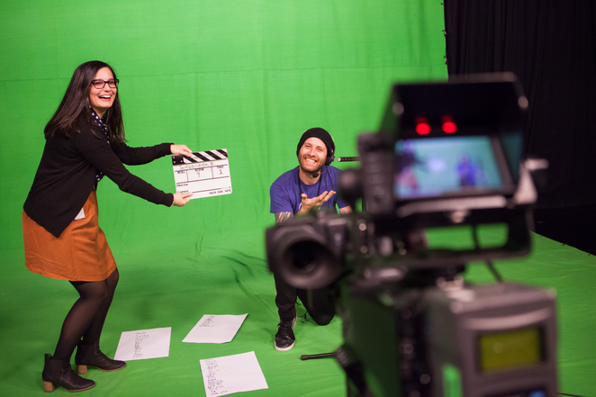 Green screen at ACMI