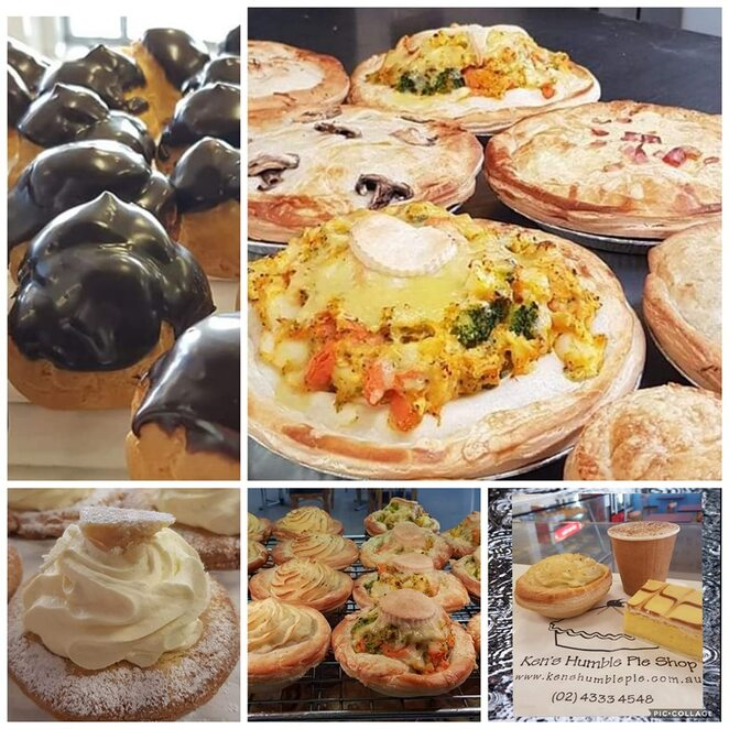 Ken's Humble Pie Shop, the entrance, NSW, central coast of NSW, pies, best pies, pofitteroles, bakery, best bakery, NSW, cakes,