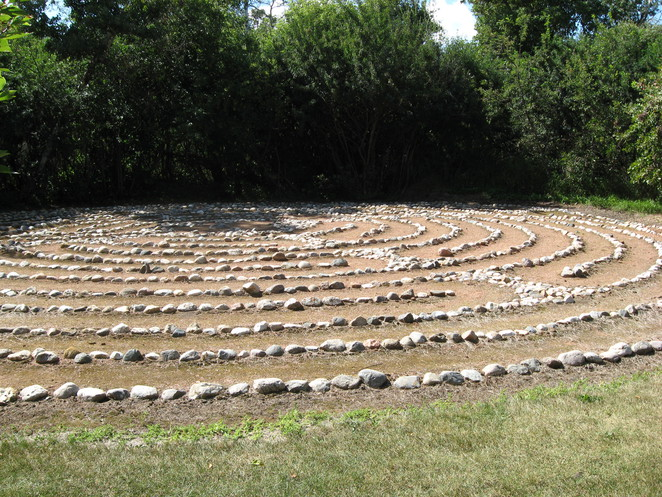labyrinth, saskatoon, prairie view, meditation