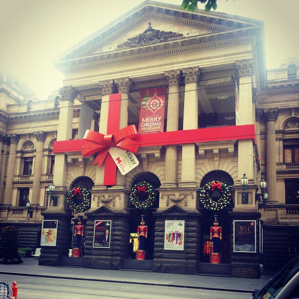 Melbourne Town Hall Christmas Decorations