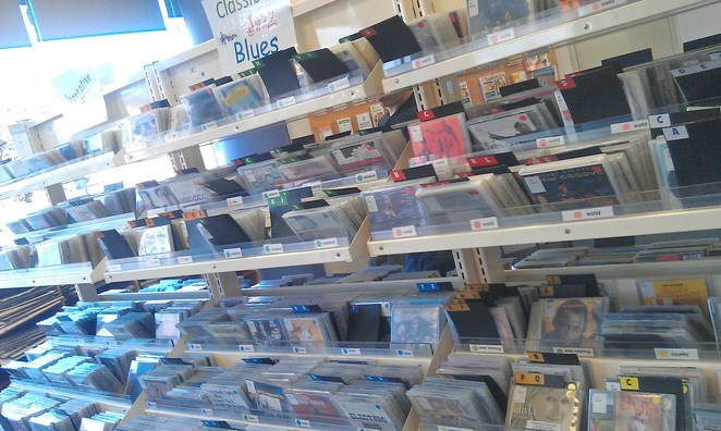 Music CD hire at Library