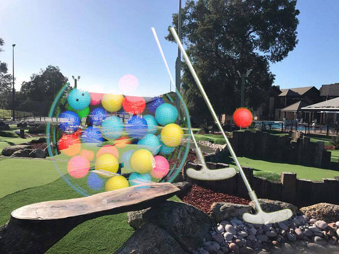 Perth Homeless Support Group Family Mini Golf Event at the Vines Swan Valley