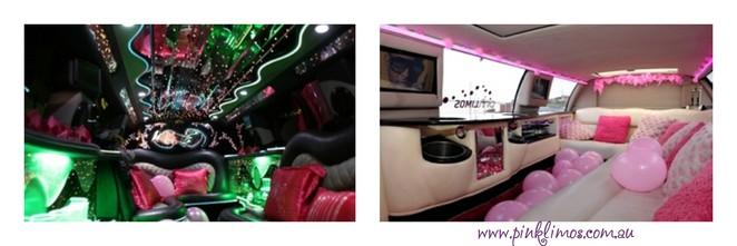 Pink Limos Melbourne, pink limo suv