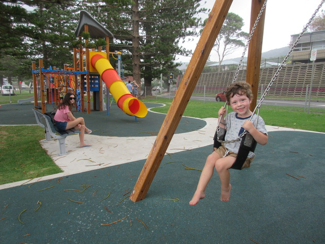 Playground, Play Park, Swings, Austinmer, Beach