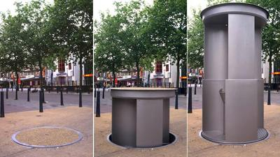 Pop up stainless steel urinals Northbridge Perth Now.