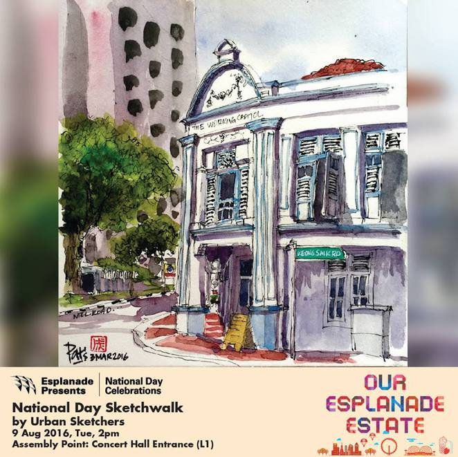 SG51, NDP2016, NDP51, National day parade 2016, things to do on 9 august 2016, urban sketcher, sketch group, sketcher singapore