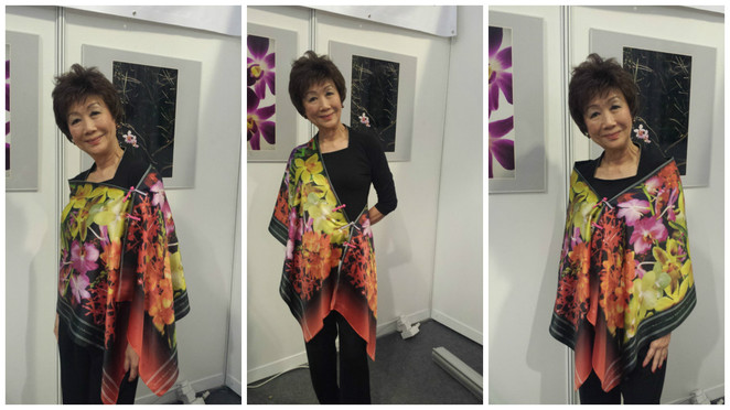 Singapore shawl company, Shelly Siu,Singapore designe, SGF 2016