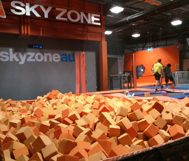 skyzone, belconnen, canberra, ACT, trampoline centres, belconnen westfield shopping centre, school holidays, preschoollers, fitness classes, dodgeball,