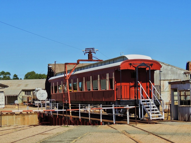 steamtown heritage rail centre, steamtown railway museum, railway carriage, peterborough, peterborough attractions, steam engine, railway history, south australian railways, locomotive, sound and light show