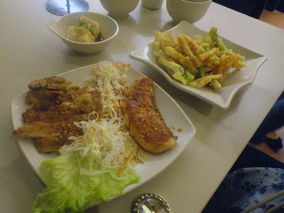 teriyaki salmon and chicken