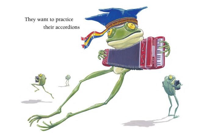 The froggies Do Not Want to Sleep, children's book, picture book, picture book about frogs, children's books published in 2021, new children's books