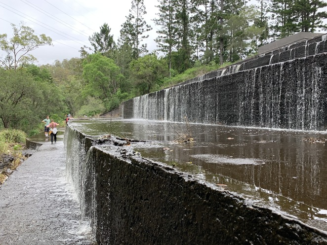 The spillway of the dam