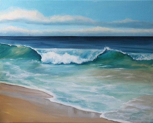 The,Beach,painting