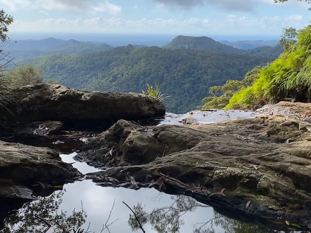 Although beautiful, bushwalkers should remain vigilant for slippery sections along the track