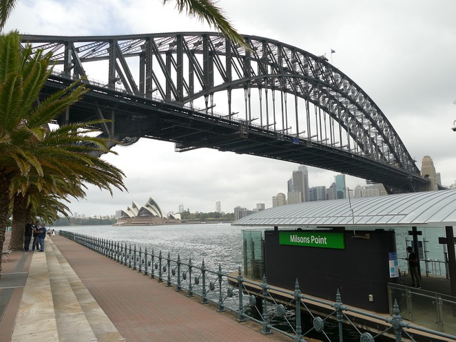 View of the bridge from Milsons Point