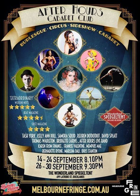 After hours cabaret burlesque spiegeltent