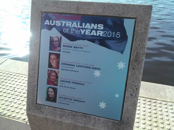 Australians of the Year Walk, lake Burley Griffin, 2015 recipients