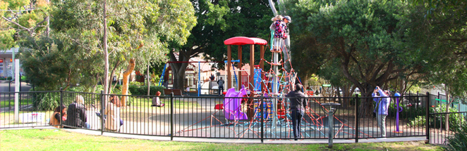 Bieler reserve, eastern suburbs playgrounds, fenced playgrounds