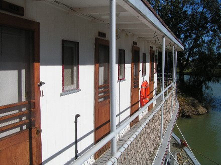 cabins, paddlesteamer, Ruby, Fotherby