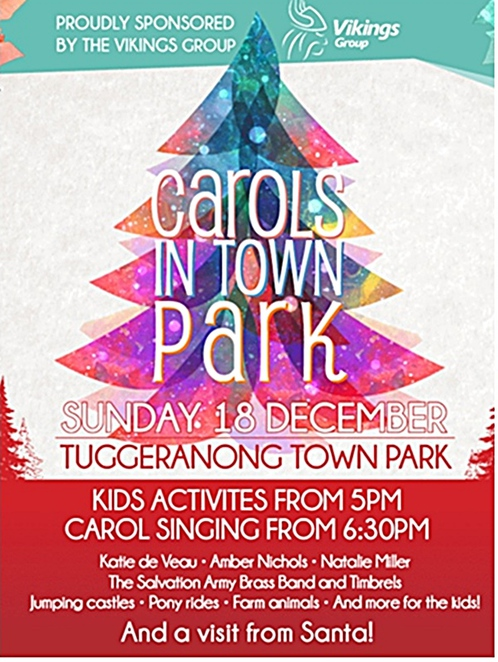 carols in town park, canberra, tuggeranong, 2016, christmas carols, ACT,