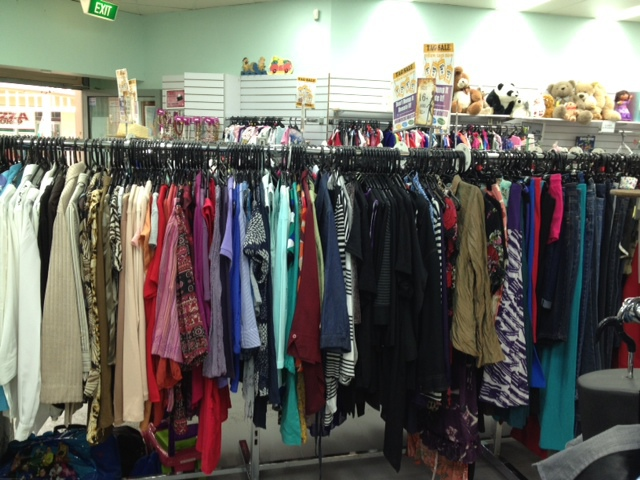 Cheap shopping, shopping bargains, recycled clothes and other items, volunteers, intellectual disabilities, charities, Churinga school, op shops,