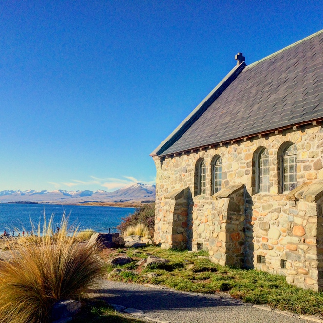 lake tekapo, church of the good shepherd, lakes in New Zealand, Lake Tekapo, Mackenzie Basin, Southern Alps, Pure New Zealand
