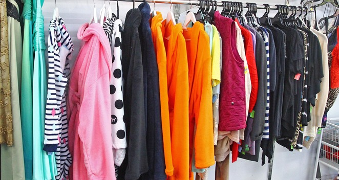 colourful clothes.