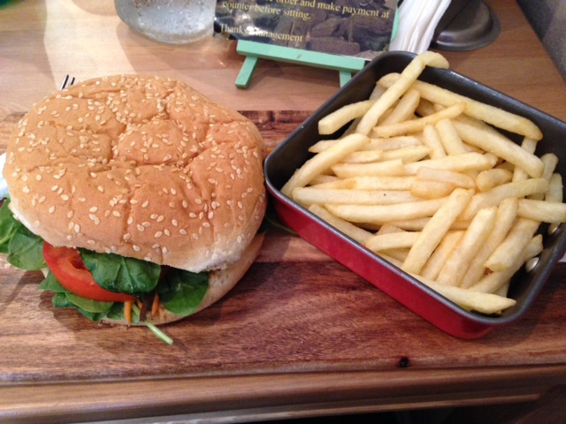 Flavours By Bundeena burger and chips