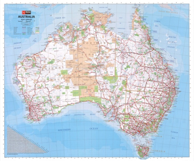 Hema Map of Australia