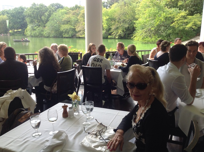I am having lunch at the Loab Boathouse Restaurant Central Park New York