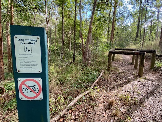 On-leash dogs are welcome on the trails leaving from Ironbark Gully