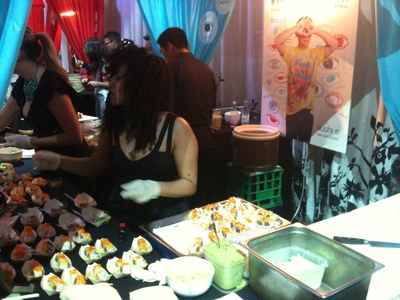 Sushi e pop-up eatery at March into Merivale Launch Party