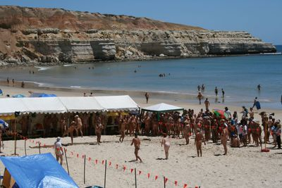 Maslin Beach Nude Olympics changes name to Pilwarren Maslin Beach Nudo Lympics after AOC