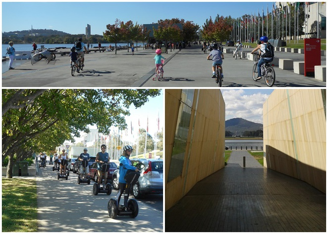 queen elizabeth terrace, ACT, canberra, bike riding, segway, central loop, kids, children, families, bike paths,