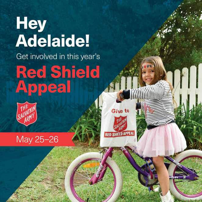 red shield appeal 2019, community event, fun things to do, volunteering, city salvos church adelaide, charity, doorknocking, the salvation army, helping the disadvantaged, collect money, donations, free event