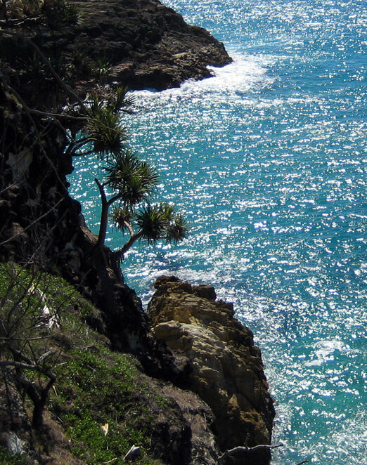 The cliffs on North Stradbroke Island