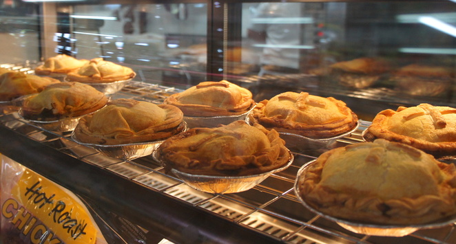 Where else can you get lamb pies? If you don't like lamb, there are other varieties as well.