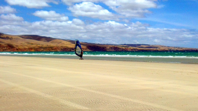 sellicks beach, fleurieu peninsula, south australia, beach, summer, blokarting, land surfing