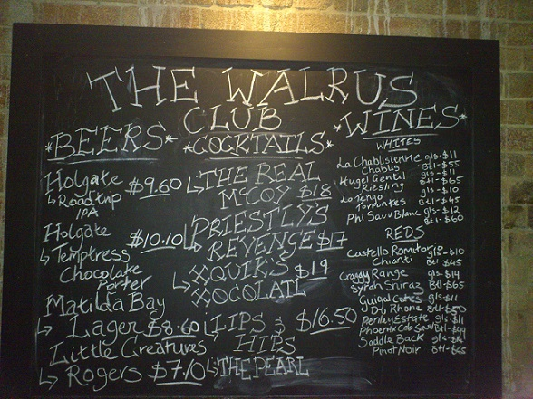 the walrus club, brisbane cocktail bars