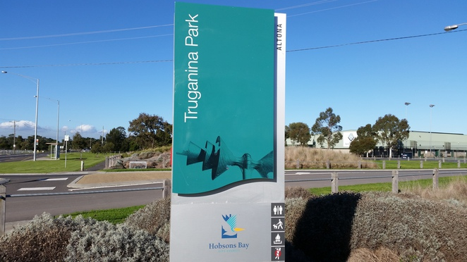 Truganina Park entry sign