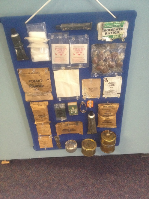 Vietnam Veteran's Centre - display of Ration Pack