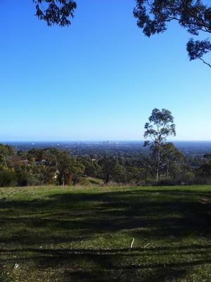 View from Woodforde Track