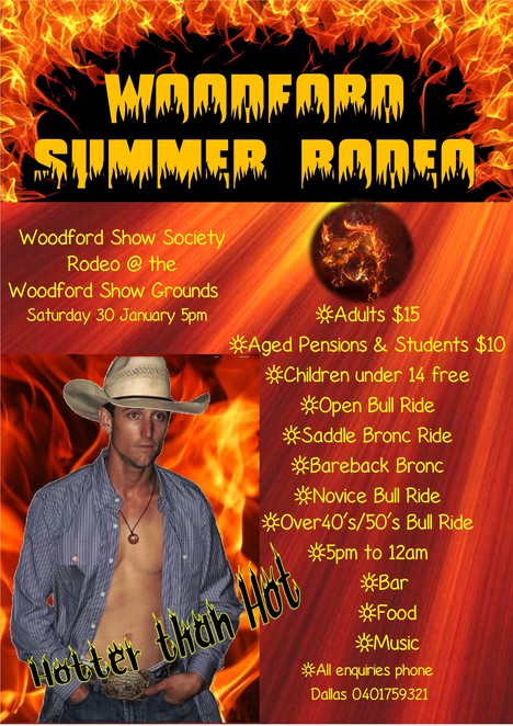 Woodford Summer Rodeo, Rodeos Brisbane, January events