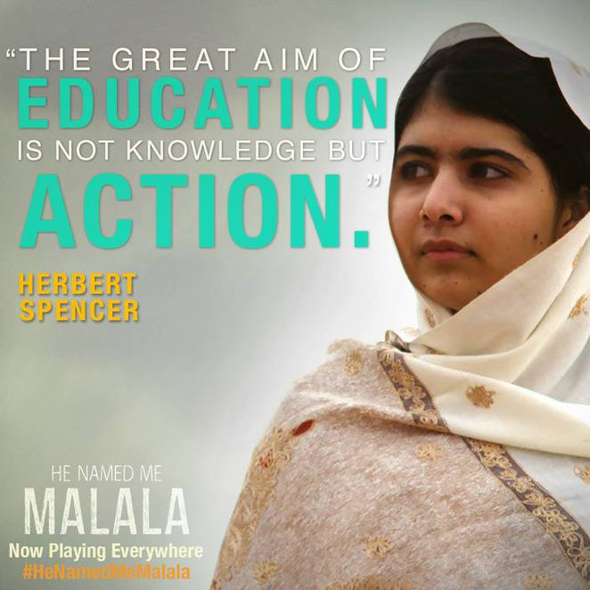 Malala is a young Pakistani female activist