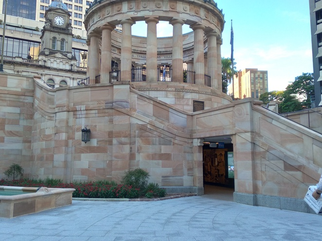 anzac square memorial galleries, war, gallery, qld, remembrance, shrine, may cross