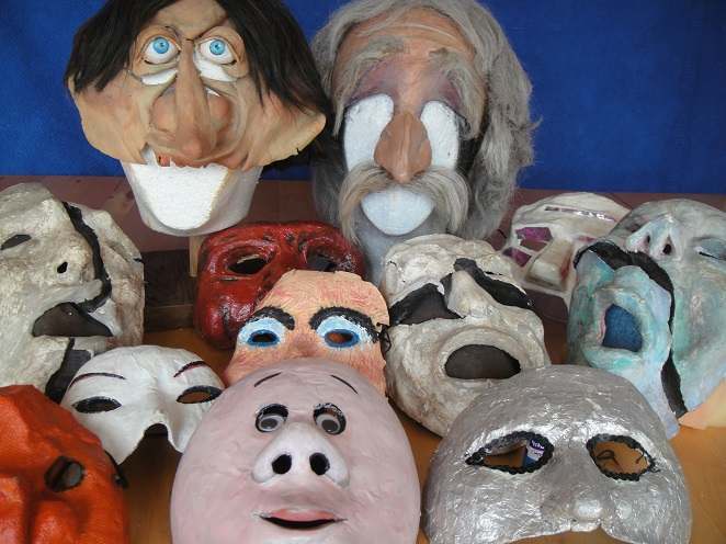 Art classes at Our Port, Port Adelaide, mask making