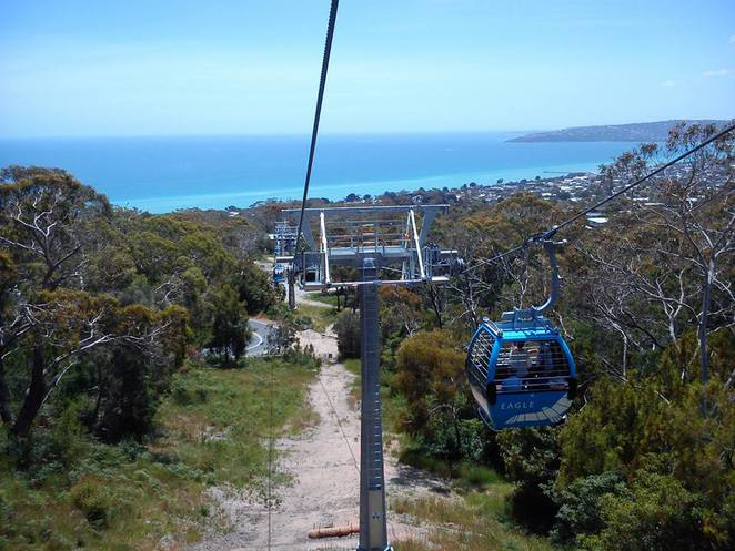 attractions, tourists, scenic, gondola ride, seaside, eagle skylift, dromana, outdoors, family day out,